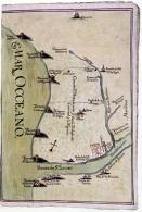 Mapa elaborado con motivo del pleito por el cobro de los tributos de las salinas de Doñana, 1768